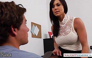 Assignation milf Kendra Lust gets fucked on the chiffonier