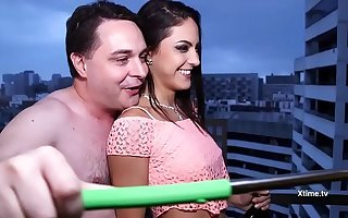 Porn Star Carolina Abril with Andrea Dipre' nigh a nice bonking day nigh Barcelona..