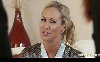 Brazzers - Blond MILF Brandi Love is massaged together with fucked