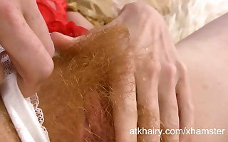 Zia loves carnal hairy and fingering her pussy