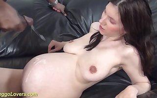 young preggo girlhood first big black cock
