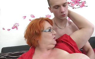 Granny SSBBW fucked overwrought young boy