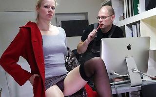 Capital girl demands her worker's cock inside her