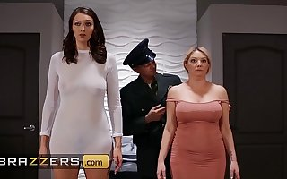 PAWG (Bella Rolland) take a stand life for dick in threesome and rough sex - Brazzers