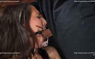 Liz Rainbow BTS Slave Girl Facefucked Fastening 1