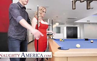 Naughty America - Casca Akashova fucks the brush son's friend on the top of