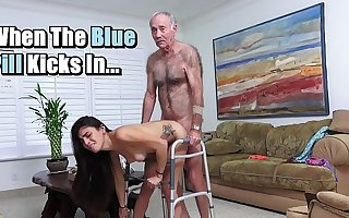 BLUE Drizzle MEN - Michelle Martinez Fucked By Geriatric Stud Who's Still Slinging Dick In His Senility