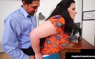 Hot Unthinking Angelina Castro & Ebony Harmonie Marquis Milk Cock