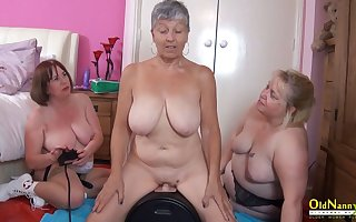 OldNannY Three British Matures and Sex Gadgetry