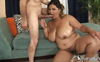 Jeffs Models - Fat Latina Nipper Spice Blowjob Compilation 4