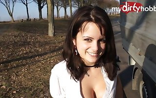 MyDirtyHobby - Arya LaRoca public quickie with a stranger