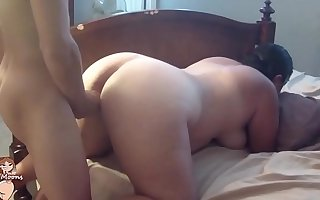 Broad in the beam MILF stepmom strips with an increment of fucks big cocked Stepson #24