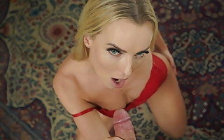 DEBT4k. Lucky man has red-letter sex with hottie with big
