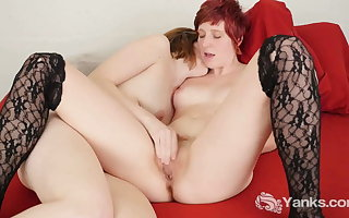 Horny Yanks, Lesbians Sosha Belle With an increment of Cock crow Odaire