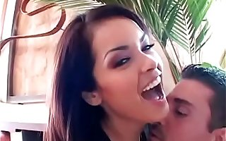 Hot latin mamacita in swarthy voluptuous outfit Daisy Marie is always glad when her well hung white admirer calls her to cut loose on the week-end