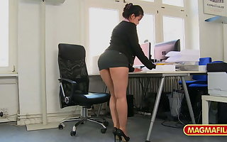 Short skirt office battle-axe fucked at work be advisable for a raise