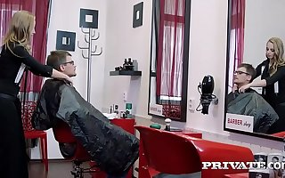 Cutie Teen Hairdresser Nipper Head Tries Anal