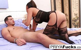 Bombshell Priya fucks her friend until he drops a giant load
