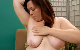 BBW Ada Plays with reference to Her Hairy Pussy