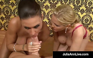 Cum Swapping Milfs Julia Ann & Jessica James Swell up A Cock!