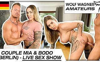 Live on cam: Mia Blow sucks dick & gets pounded! Wolf Wagner