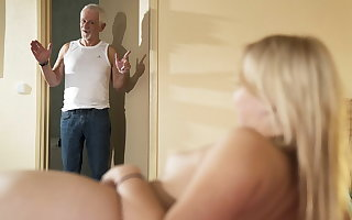Respects grandpa, please fuck my pussy and authorize me swallow cum