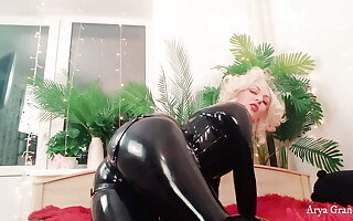 Latex Rubber Fetish Video With Sexy MILF Arya Grander Irritant Teasing