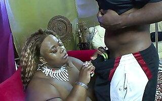 SSBBW Ebony Babe Fucks Similar to one another Stupendous BBC Hard