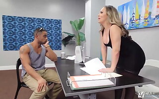Horny Carmen Valentina Is Seize Stuffed By Big Thick Dick!