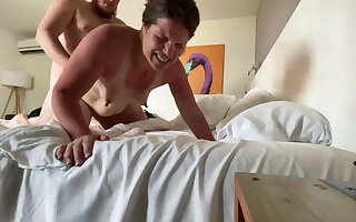 Camille gets cum roughly her ass