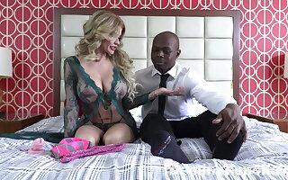 Adapt as Joslyn James' ballbusting slave