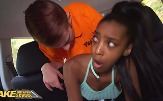 Act out Driving Bus Ebony Asia Rae Gets Stuck and Fucked