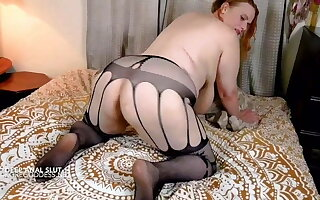 Busty wife bends over for deep anal fucking