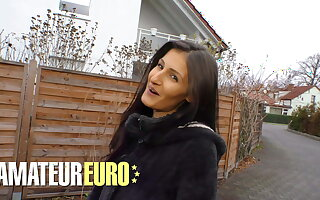 AMATEUREURO - Skinny German Babe Fucked Hard By Stranger