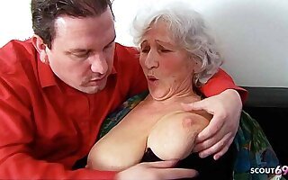 BIG Special GERMAN GRANNY, 81yr OLD SEDUCED TO FUCK BY Stand up for