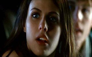 Alexandra Daddario see-through neckline