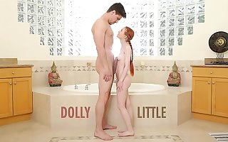 ABUSE ME - Redhead Teen Dolly Little Gets Ravaged By Bruce Job