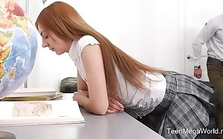 TeenMegaWorld.net - Veronika Fare - Adorable Pupil Fucks Her Horny Teacher