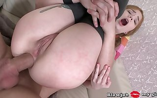 DAD  PUNISHES REDHEAD TEEN KIRA ROLLER BIG DICK IN THE Bore
