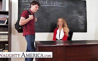 Naughty America - Linzee Ryder has a route on say no to student