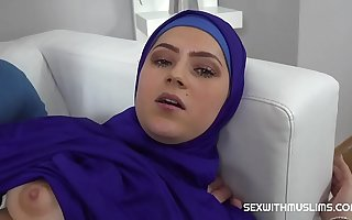 Ostentatious Muslim woman fucked back to reality
