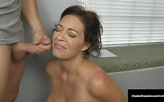 Husband's Employer Gets Milf Charlee Chase To Swell up His Cock!