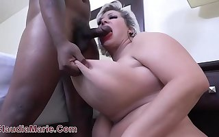 18 Year OId Black Small fry Rampages On Saggy Fake Tit Cow Claudia Marie