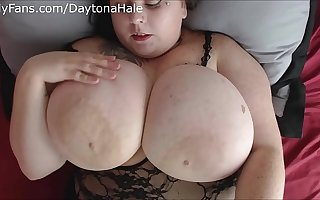 Daytona Hale Begs You To Jerk Off Increased by Cum On Her Huge Tits JOI
