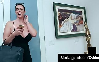 Broad in the beam Boobed Brunette Alison Tyler Dicked Overwrought Fat Cock Legend!