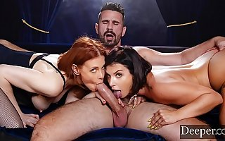 Deeper. Maitland Ward Passionate Triple not far from Ivy Lebelle