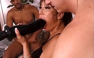 Experienced brunette old bag Ava Devine with slant eyes and big gut likes to feel huge black toy and hard wine bar at one's disposal a handful of time