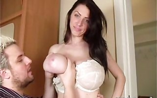 Merilyn Sakova (for the by oneself majority ever in their way career!) lets a person fondle their way chest and suck on their way ni