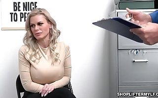 Busty safe-cracker MILF Casca Akashova caught stealing necklace by an officer. She was offered be expeditious for sex to get will not hear of exemption and fucked inside the office.