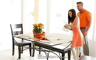 Passion-HD - Guy fucks his step daughter Carolina Sweetmeats on Thanksgiving